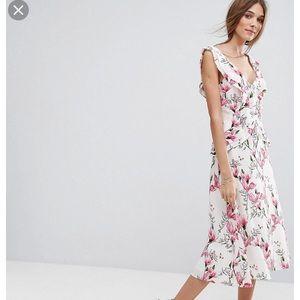 ASOS Oasis Ruffle Tea Dress